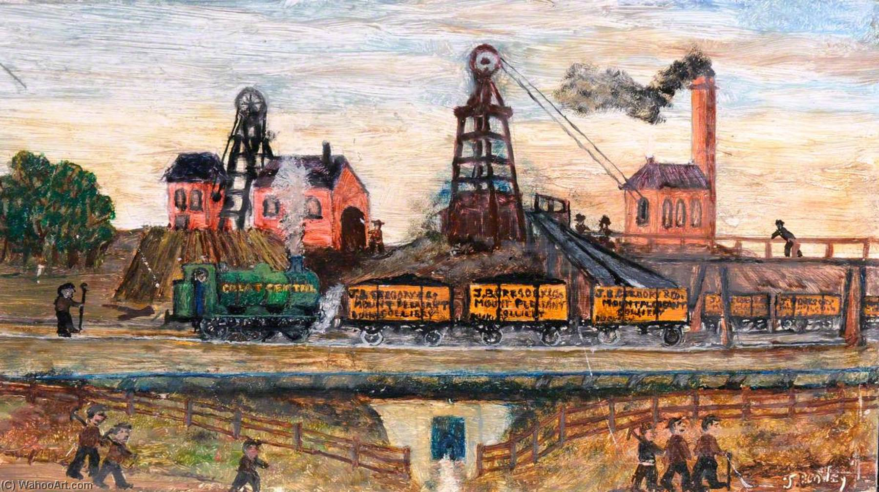 J. B. Gregory's Colliery, c.1910, Oil On Canvas by James Bentley
