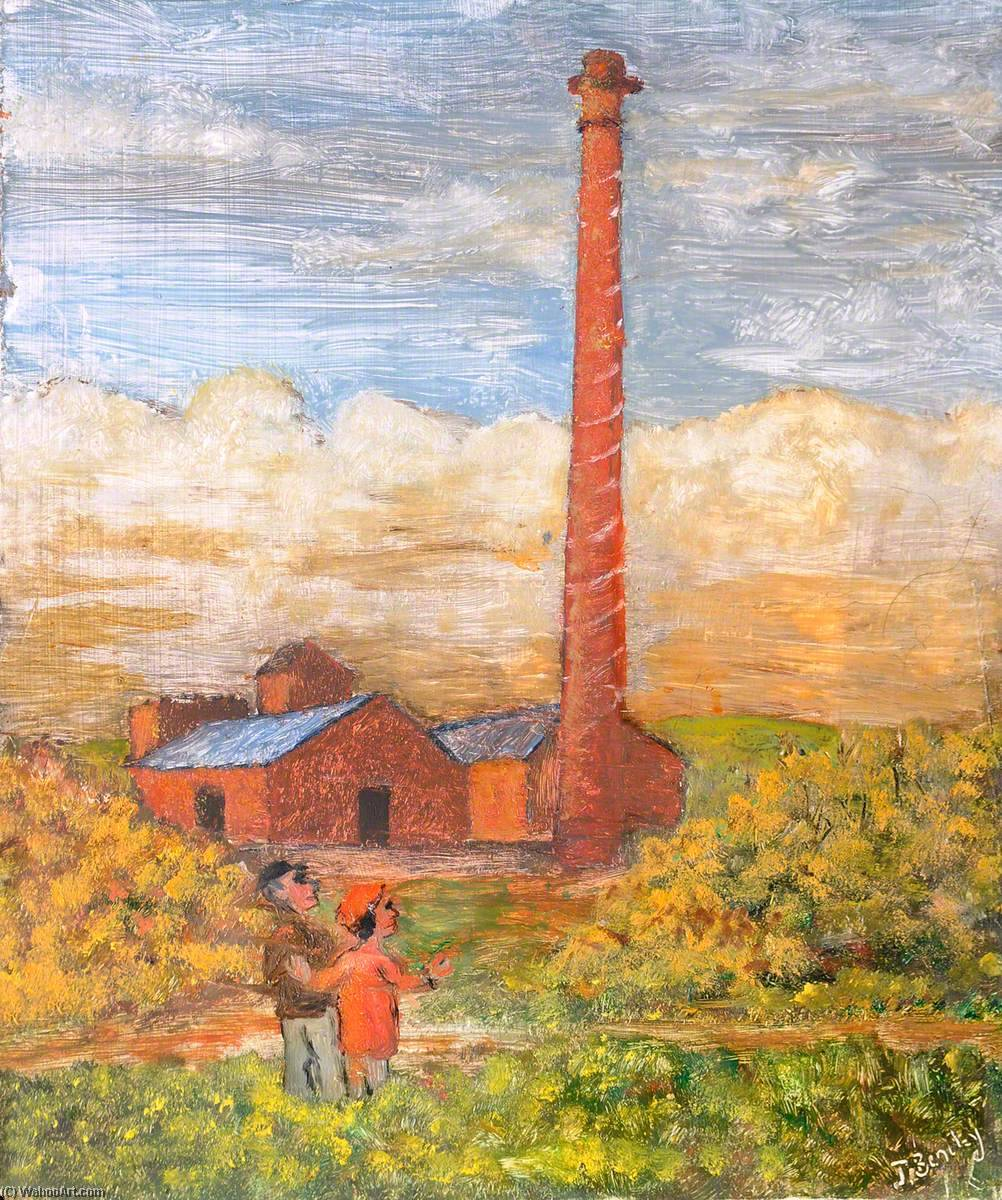 The Derelict Knowle Hill Brickworks, Buckley, Pre 1939, Oil On Canvas by James Bentley