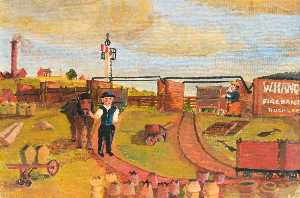 James Bentley - Tramway or Rail Exchange Sidings, Knowle Hill