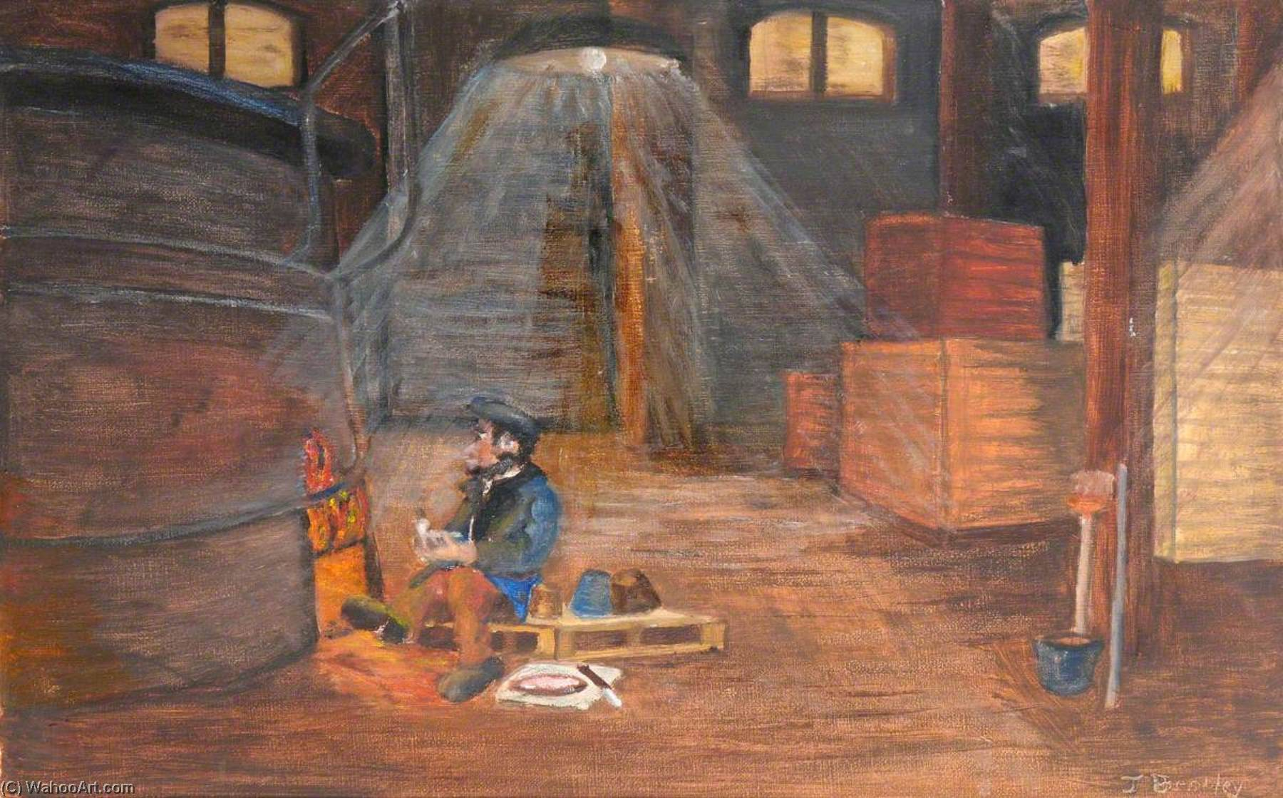 The Night Lodger, Trap Brickworks, Oil On Canvas by James Bentley