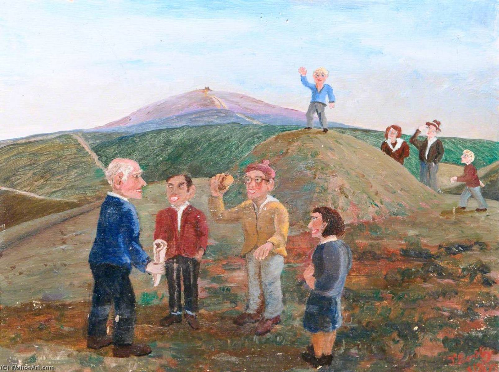 Buckley Workers' Educational Association, Oil On Canvas by James Bentley