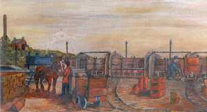 James Bentley - Knowle Hill Exchange Sidings, Buckley, c.1925
