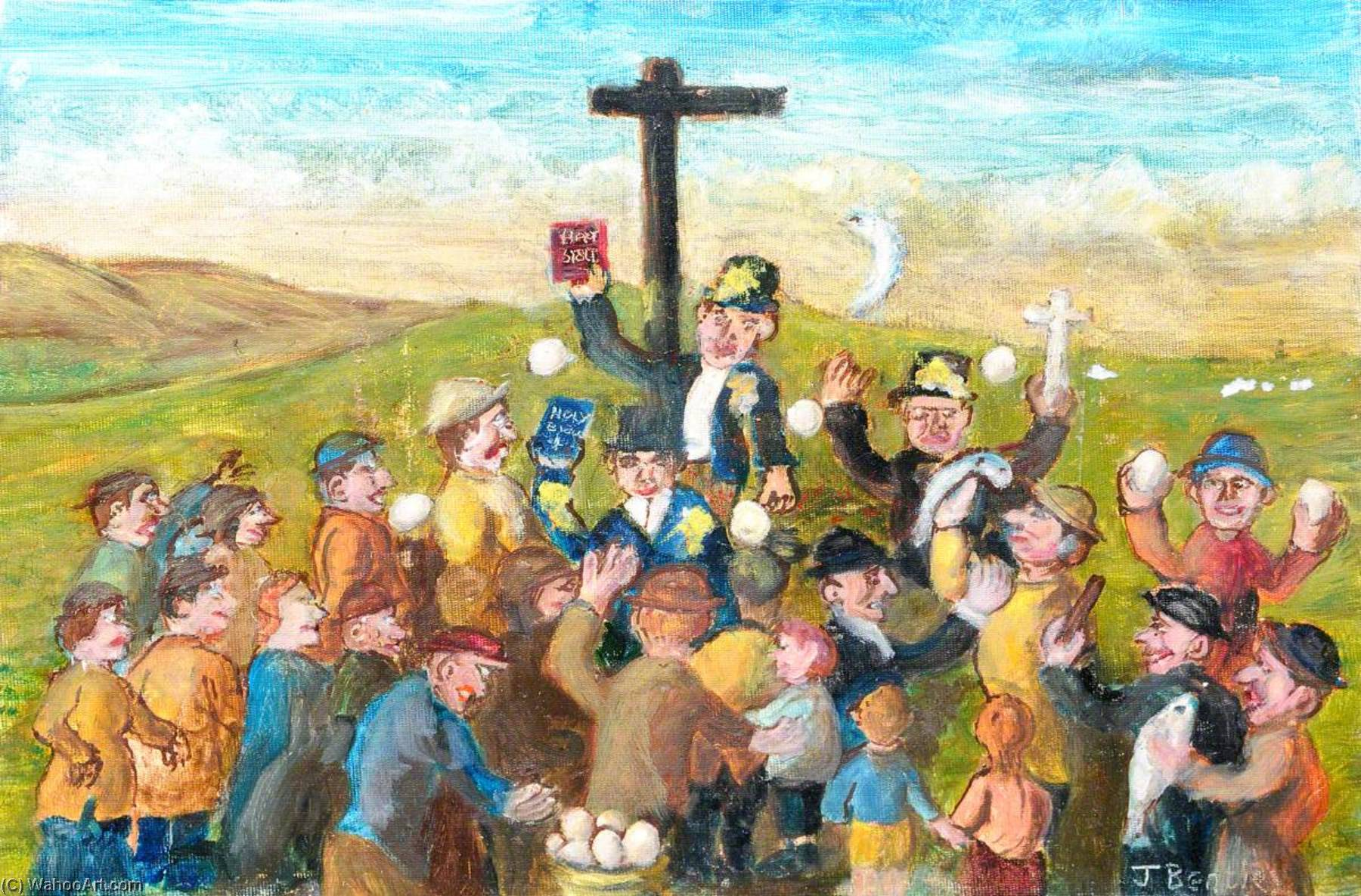Bad Eggs for the Preacher by James Bentley | Museum Quality Reproductions | WahooArt.com