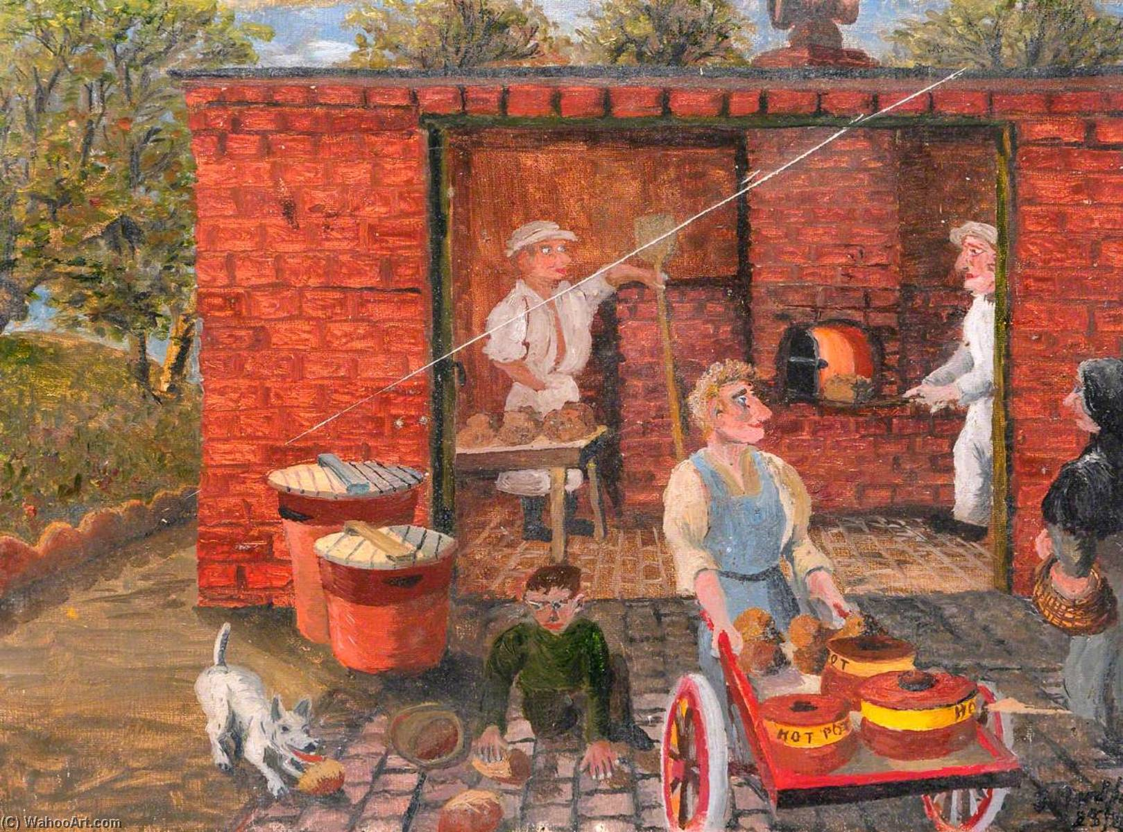 Communal Bakehouse, Oil On Canvas by James Bentley