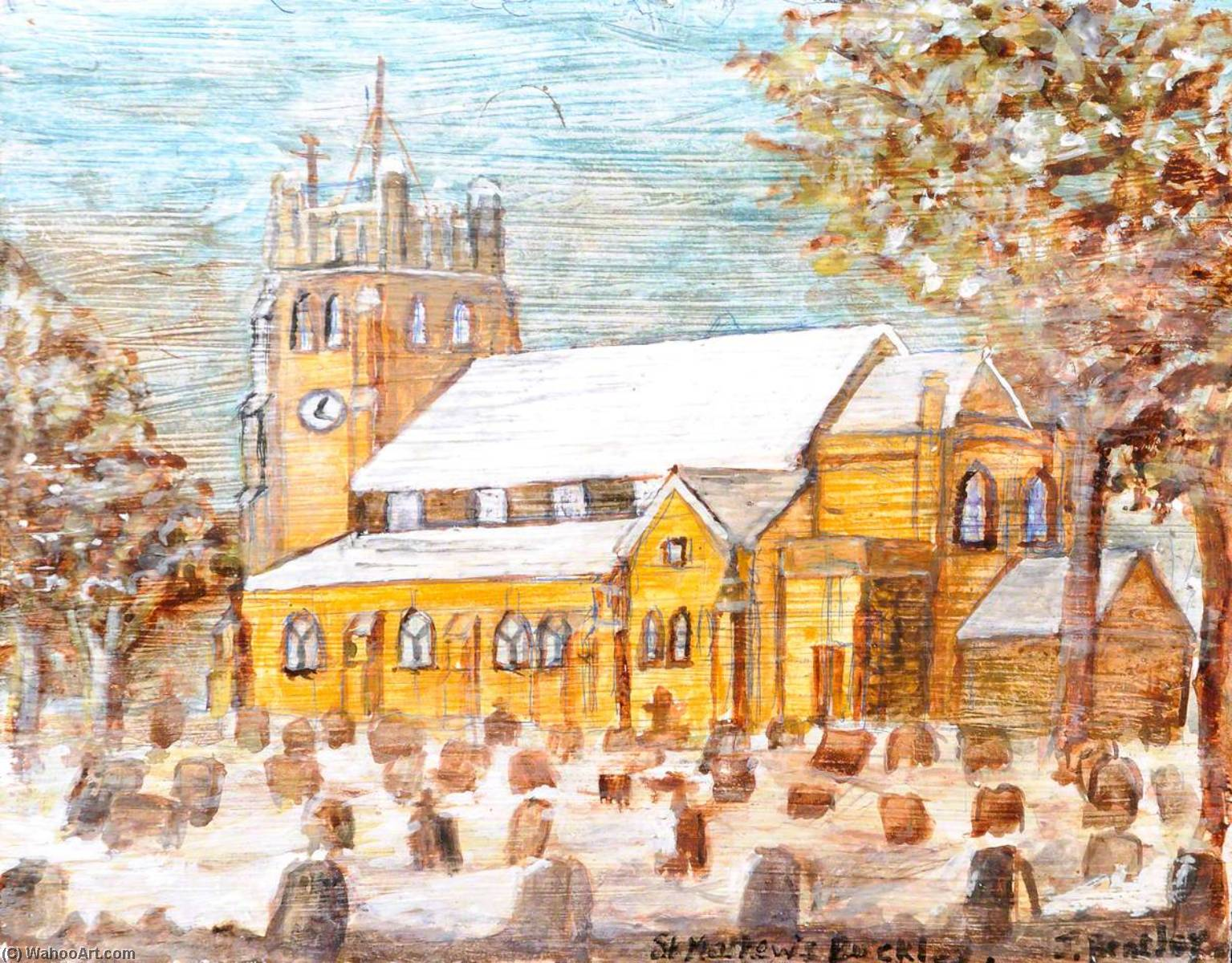 St Matthew`s, Buckley Parish Church by James Bentley | Art Reproduction | WahooArt.com