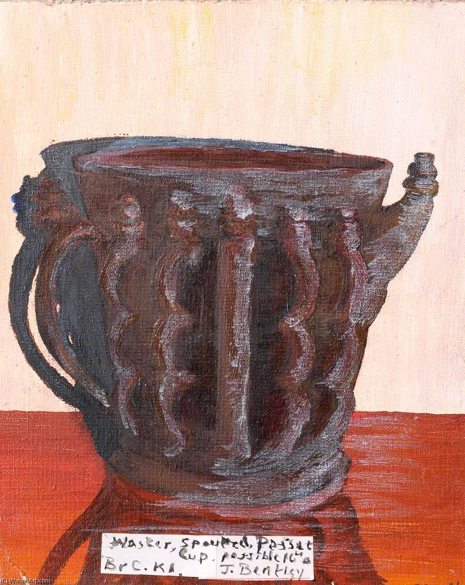 Waster, Spouted Posset Cup, Possibly Sixteenth Century, Oil On Canvas by James Bentley