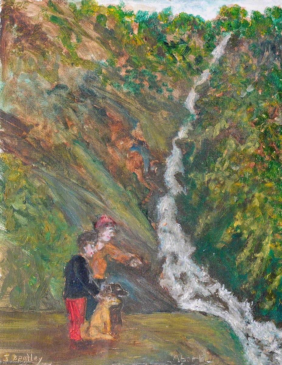 Aber Falls, Oil On Canvas by James Bentley