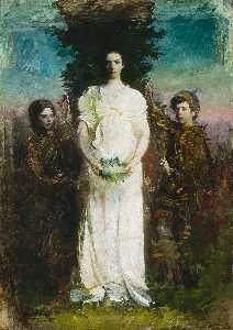Abbott Handerson Thayer - My Children (Mary, Gerald, and Gladys Thayer)