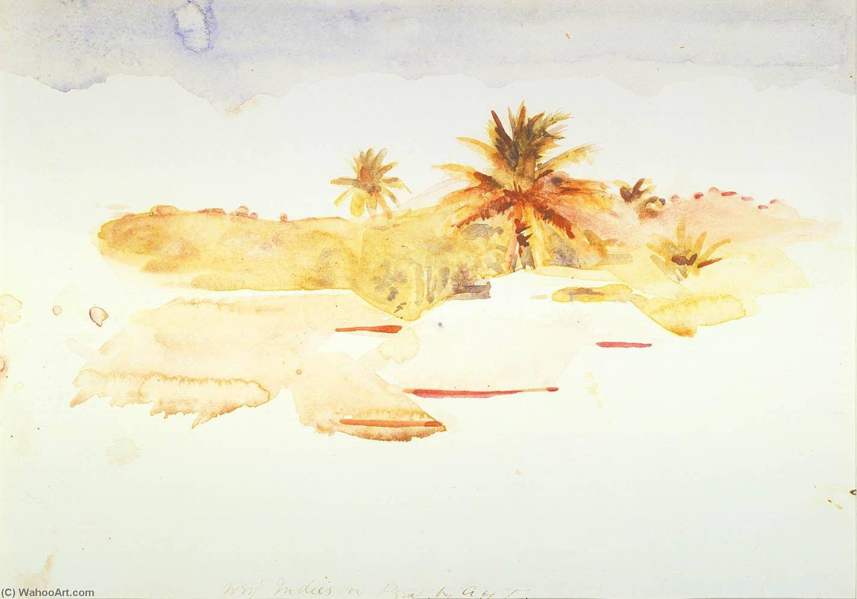West Indies, Watercolour by Abbott Handerson Thayer (1849-1921, United States)
