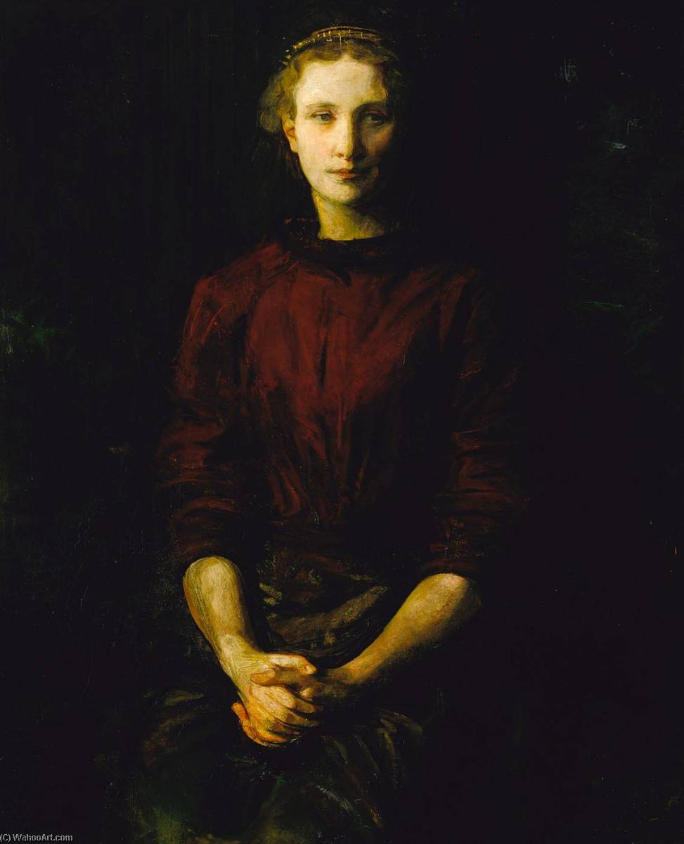 Portrait of a Lady (Mrs. William B. Cabot), Oil On Canvas by Abbott Handerson Thayer (1849-1921, United States)