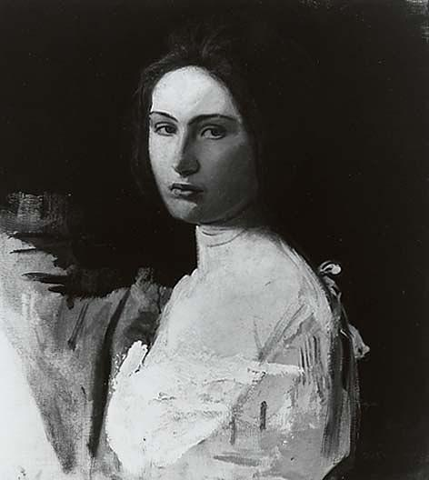 Study of Alma Wollerman, (painting), 1908 by Abbott Handerson Thayer (1849-1921, United States) | Oil Painting | WahooArt.com