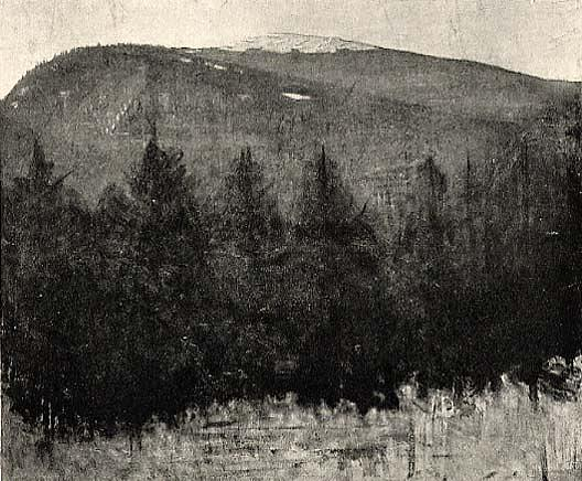 Winter Sunrise, Monadnock, (painting), 1917 by Abbott Handerson Thayer (1849-1921, United States) | WahooArt.com