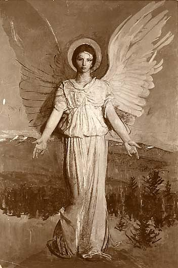 Monadnock Angel, (painting), Oil On Canvas by Abbott Handerson Thayer (1849-1921, United States)