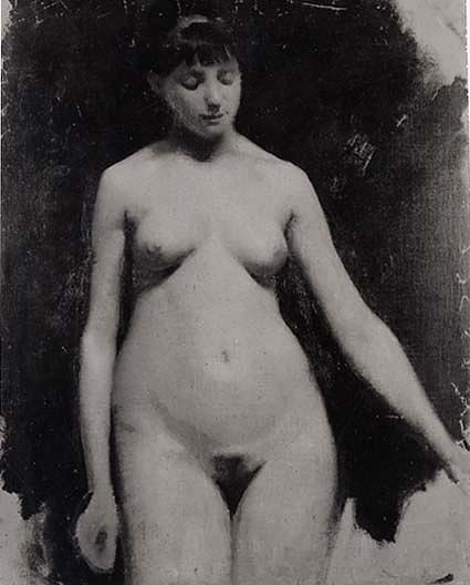 Female Nude, (painting), Oil by Abbott Handerson Thayer (1849-1921, United States)