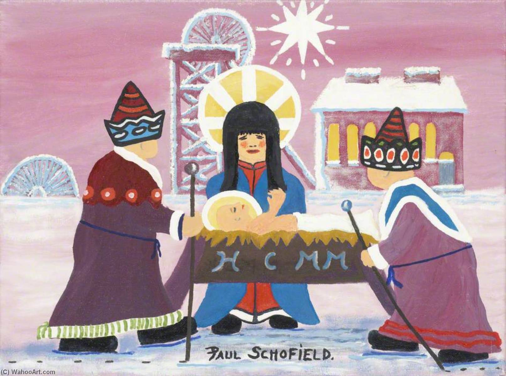 Nativity I by Paul Schofield | Painting Copy | WahooArt.com