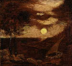 Albert Pinkham Ryder - The Lovers' Boat
