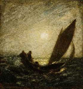 Albert Pinkham Ryder - With Sloping Mast and Dipping Prow