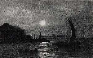 Albert Pinkham Ryder - Moonrise at South Ferry, (painting)