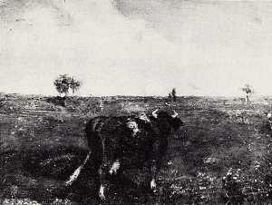 Albert Pinkham Ryder - Summer's Fruitful Pasture, (painting)