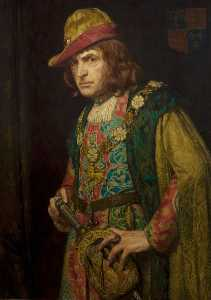 Bernard Munns - Sir John Martin Harvey (1863–1944), as Richard III (from 'Richard III')