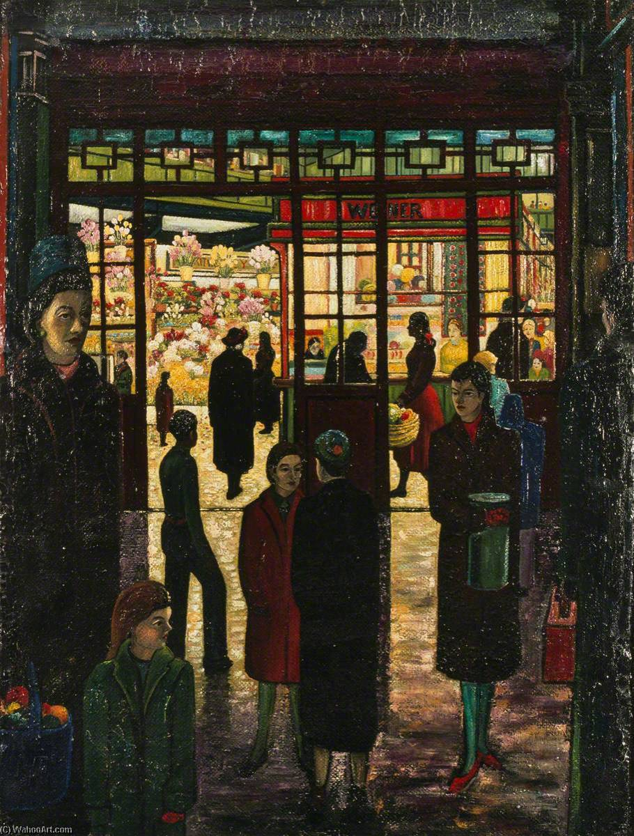 Cardiff Central Market by Charles Byrd | Painting Copy | WahooArt.com