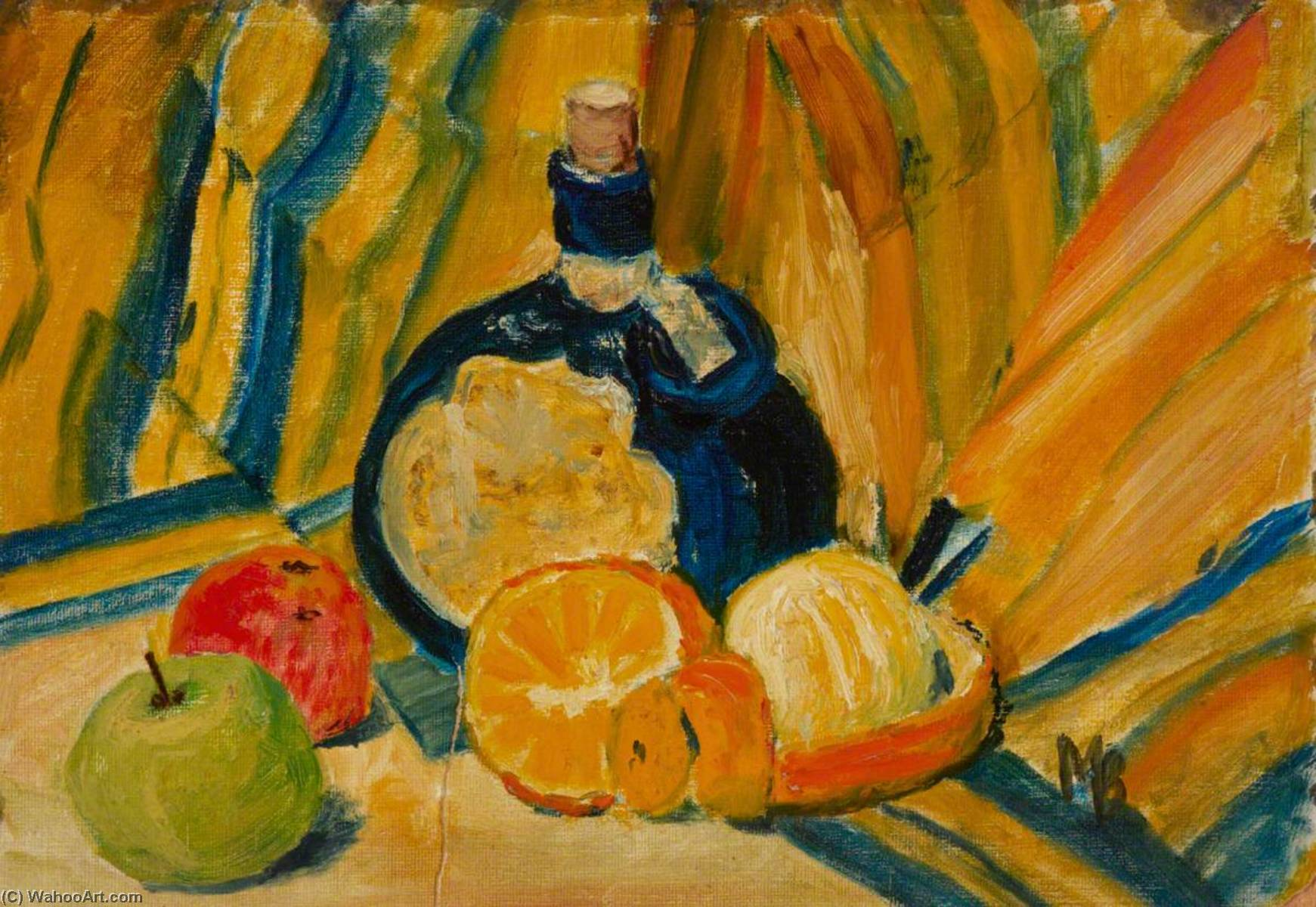 Still Life with Fruit by Myfanwy Baker | Museum Quality Reproductions | WahooArt.com