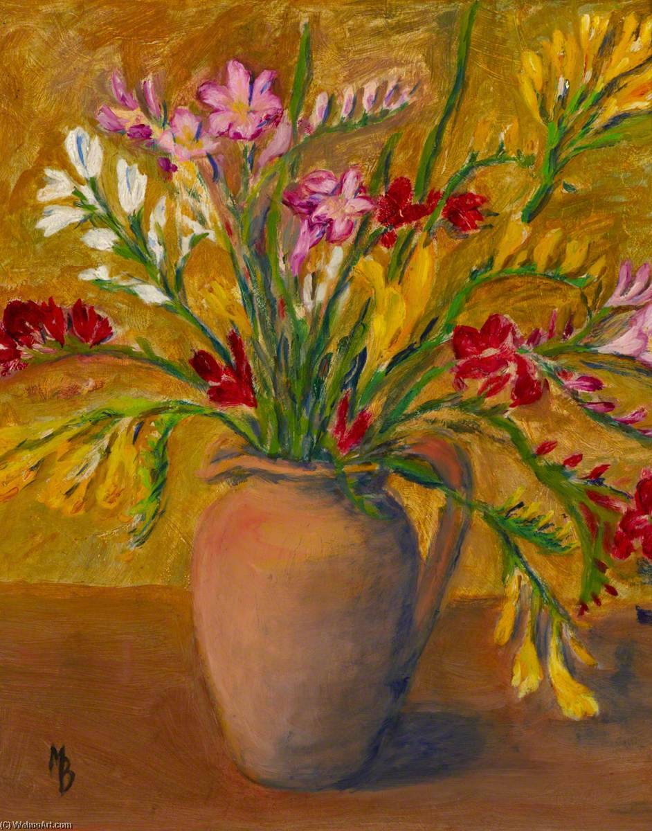 Jug of Flowers, Oil by Myfanwy Baker