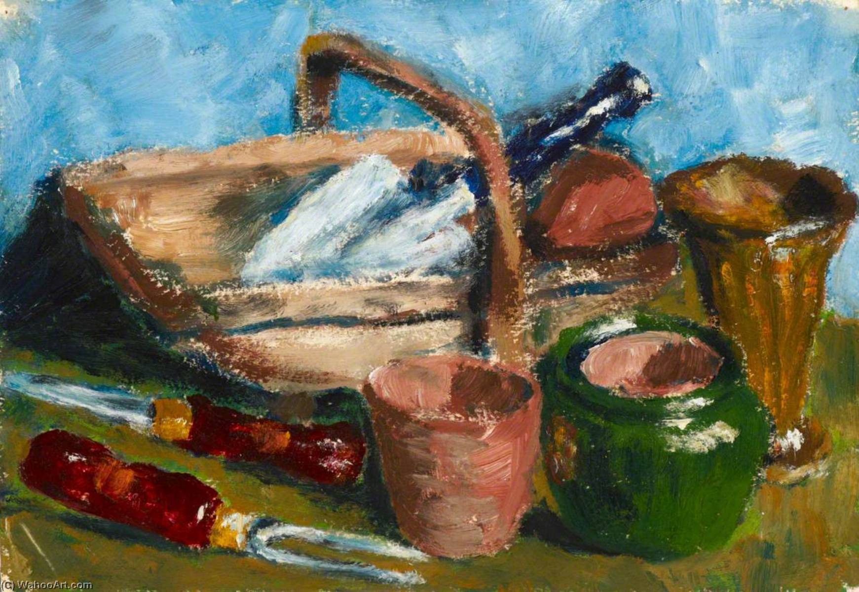 Garden Tools by Myfanwy Baker | Oil Painting | WahooArt.com