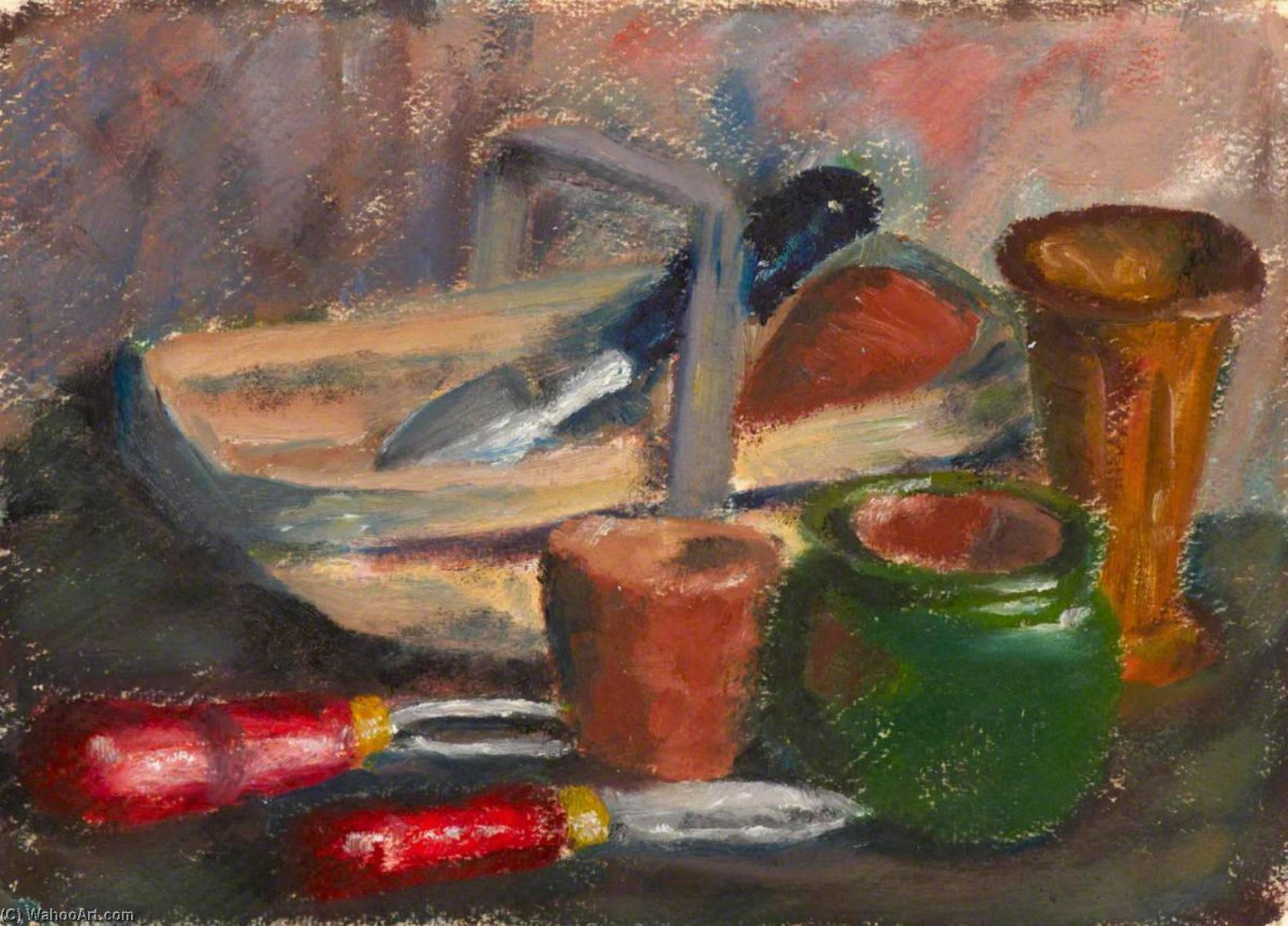 Garden Tools, Oil by Myfanwy Baker