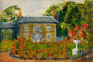 Myfanwy Baker - House with Garden