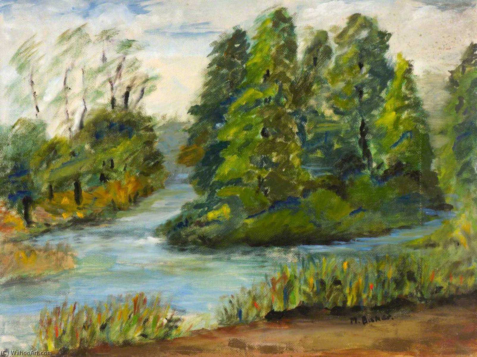 The Island Retreat, Kew Gardens, Oil by Myfanwy Baker