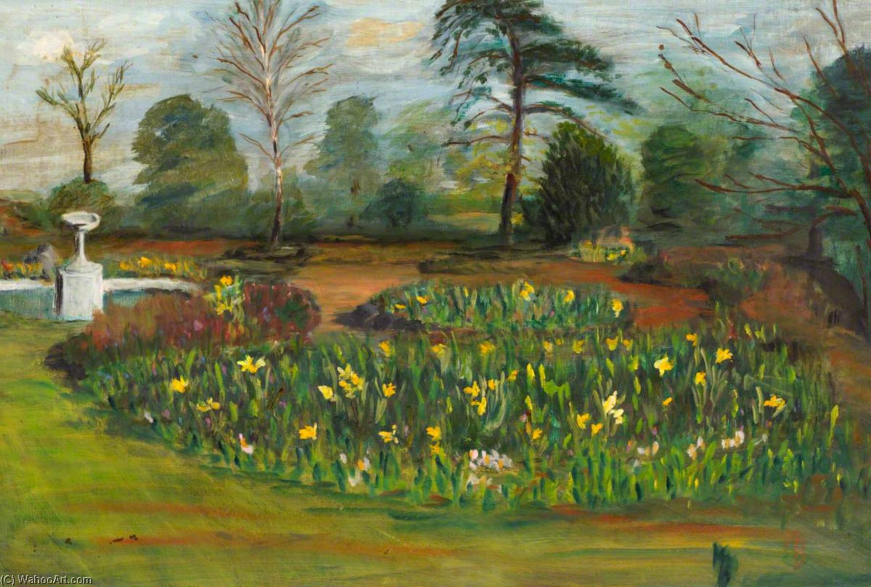 The Garden at Lee Road by Myfanwy Baker | WahooArt.com