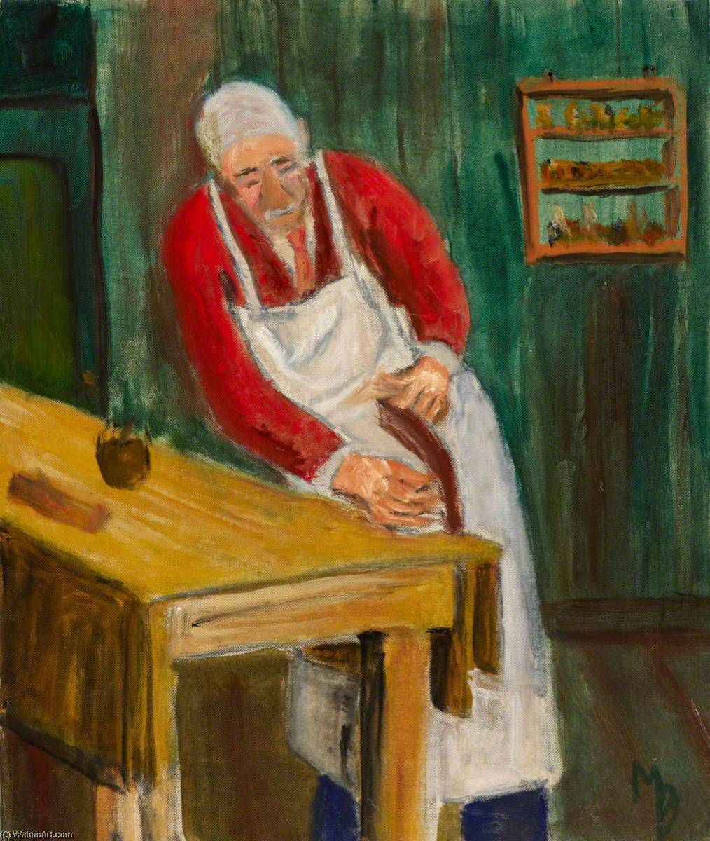 Man in Workshop by Myfanwy Baker | Museum Quality Reproductions | WahooArt.com