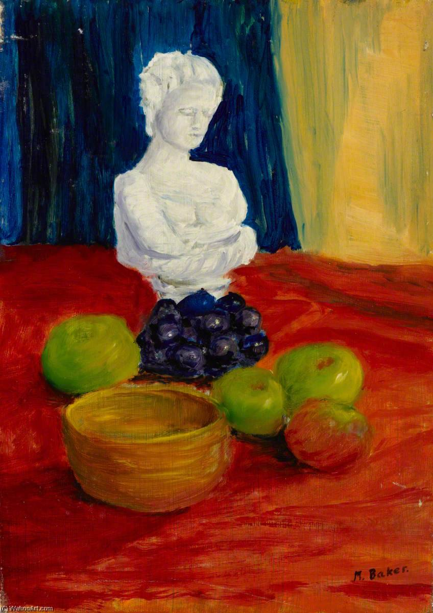 Still Life with Bust, Oil by Myfanwy Baker