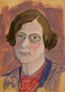 Myfanwy Baker - Portrait of a Woman (verso)