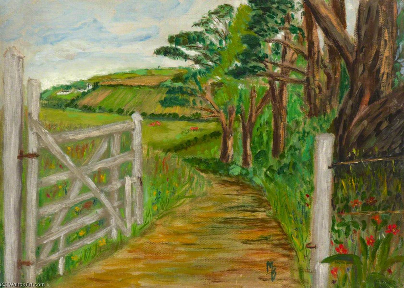 The Back Exit from the Grounds, Oil by Myfanwy Baker