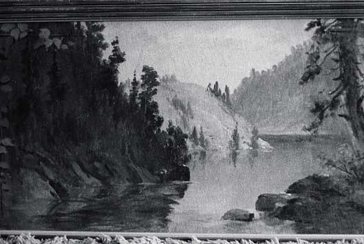 Panorama of Lake Coeur d'Alene, Idaho Beauty Bay, (painting), Oil by Von Luerzer (1851-1913)