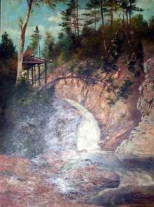 Von Luerzer - (Rocky Creek and Observation Deck), (painting)