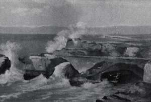 Von Luerzer - Santa Cruz Cliffs, (painting)