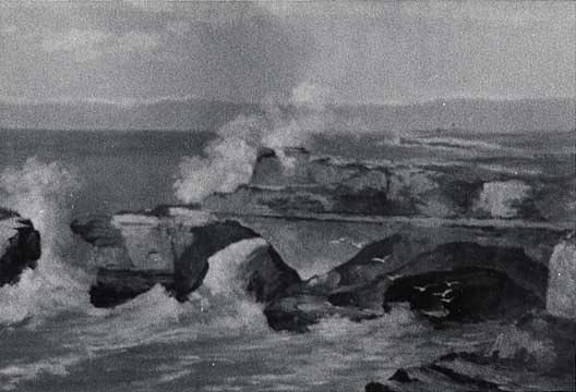 Santa Cruz Cliffs, (painting), Oil by Von Luerzer (1851-1913)