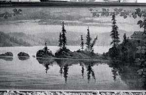 Von Luerzer - Panorama of Lake Coeur d'Alene, Idaho Carbin Point, (painting)
