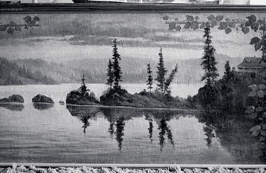 Panorama of Lake Coeur d`Alene, Idaho Carbin Point, (painting) by Von Luerzer (1851-1913) | Famous Paintings Reproductions | WahooArt.com
