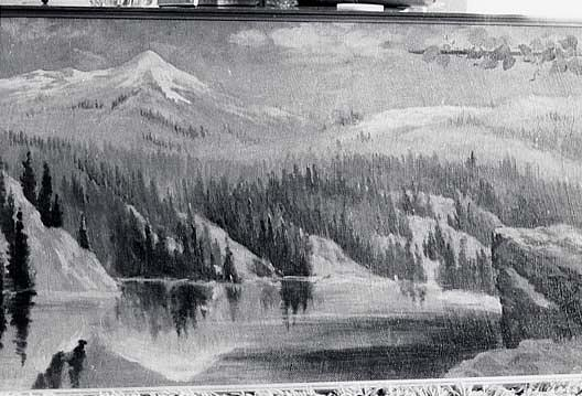 Panorama of Lake Coeur d'Alene, Idaho Nigger Head , (painting), Oil by Von Luerzer (1851-1913)