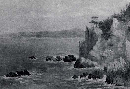 Seascape with Monterey Cyprus, (painting), 1905 by Von Luerzer (1851-1913) | Painting Copy | WahooArt.com