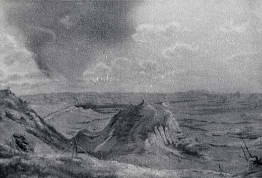 South Dakota Badlands, (painting), Oil by Von Luerzer (1851-1913)