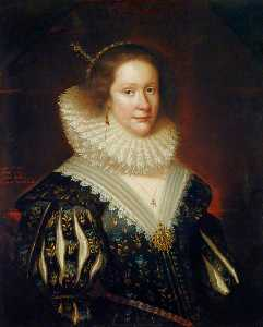 George Jamesone - Lady Mary Erskine (b.c.1597), Countess Marischal