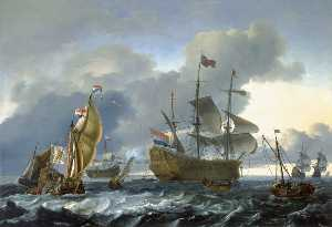 Ludolf Backhuysen - Dutch Attack on the Medway the 'Royal Charles' Carried into Dutch Waters, 12 June 1667