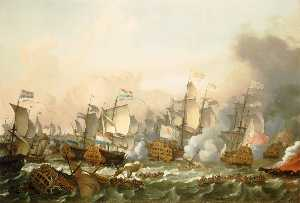 Ludolf Backhuysen - The Battle of Barfleur, 19 May 1692