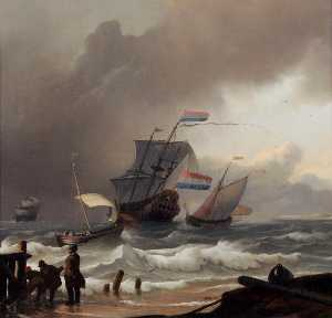 Ludolf Backhuysen - The Coming Squall