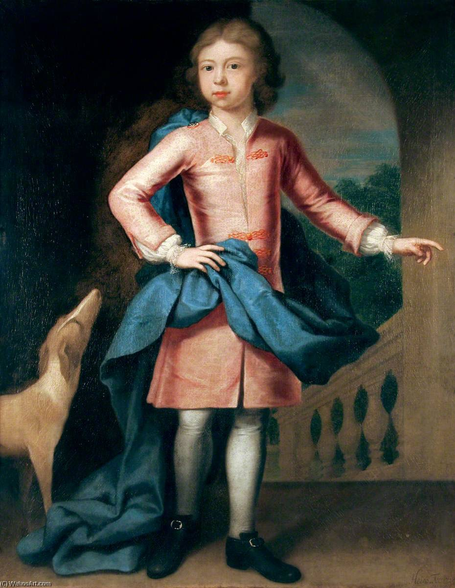 John Ives Senior as a Boy (1718 1719–1793), Oil On Canvas by John Theodore Heins Senior